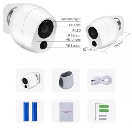 1080P Wireless IP Camera SD Card Storage Audio 2MP Wifi Security CCTV Camera IR Night Vision Mini Battery Camera Wireless 5